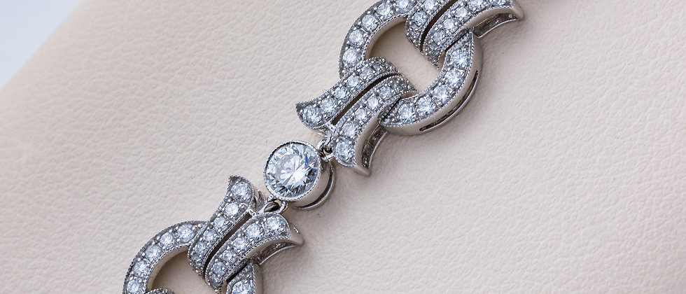 Vintage Inspired Diamond Bracelet