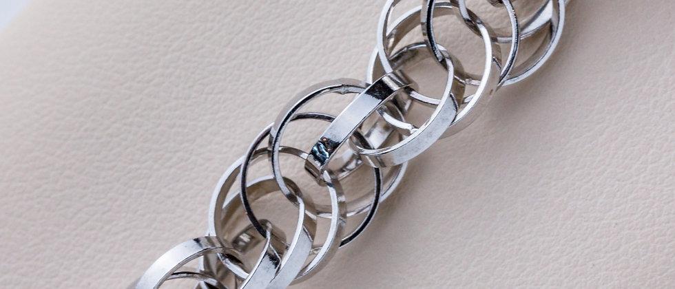 Multi Interlinking Circles Bracelet