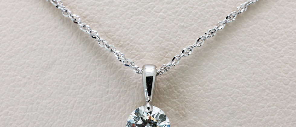 Diamond Solitaire Pendant with Round Diamond