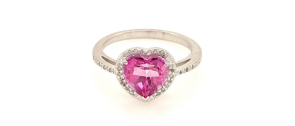 Pink Topaz Heart Ring