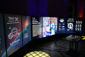 Création d'une application interactive sur +8m d'écrans !