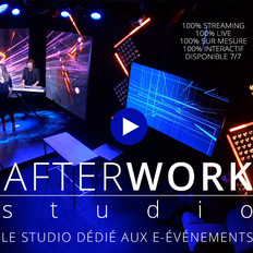 Lancement de l'AfterWork studio, le studio dédié aux e-événements