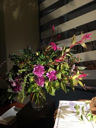 Garden Arrangement with Dahlias