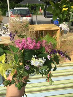 Garden Bouquet with Pink Spirea