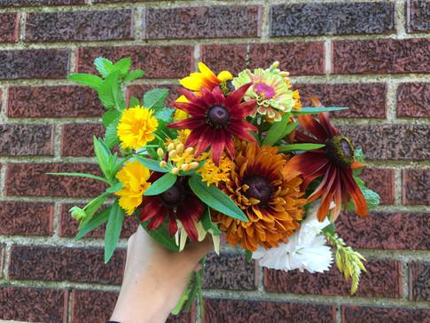 Garden Bouquet with Marigolds