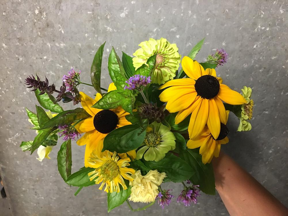 garden bouquet with black eyed susan