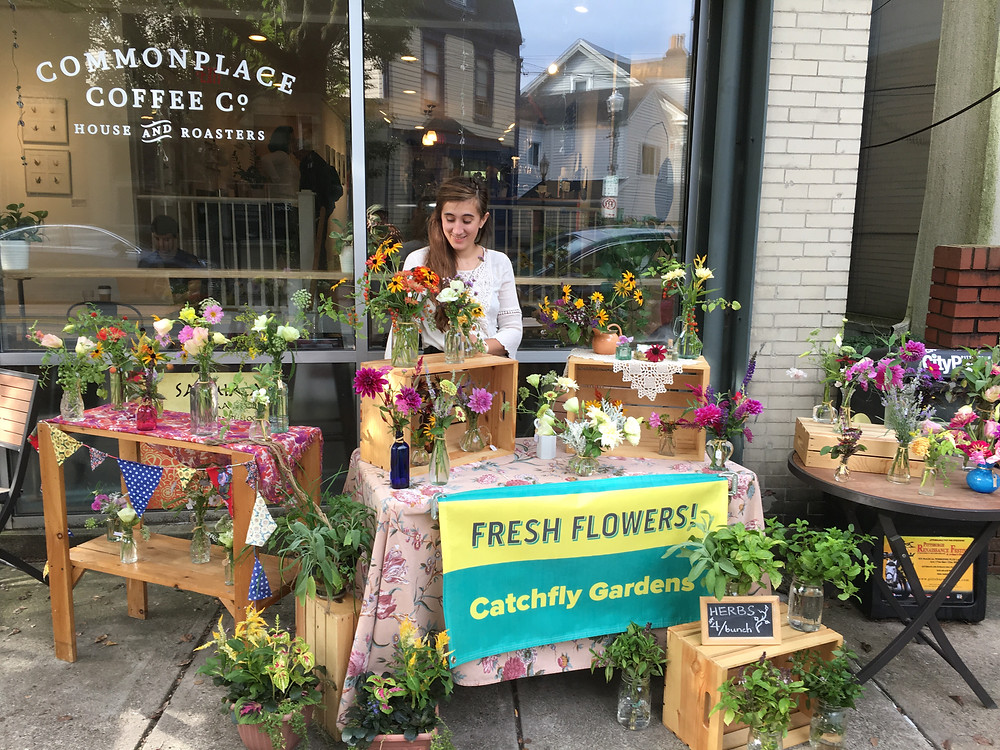 Catchfly Gardens pop up at Commonplace Coffee