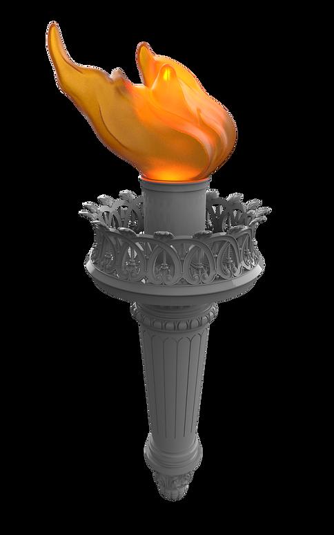Statue of Liberty torch 3D model