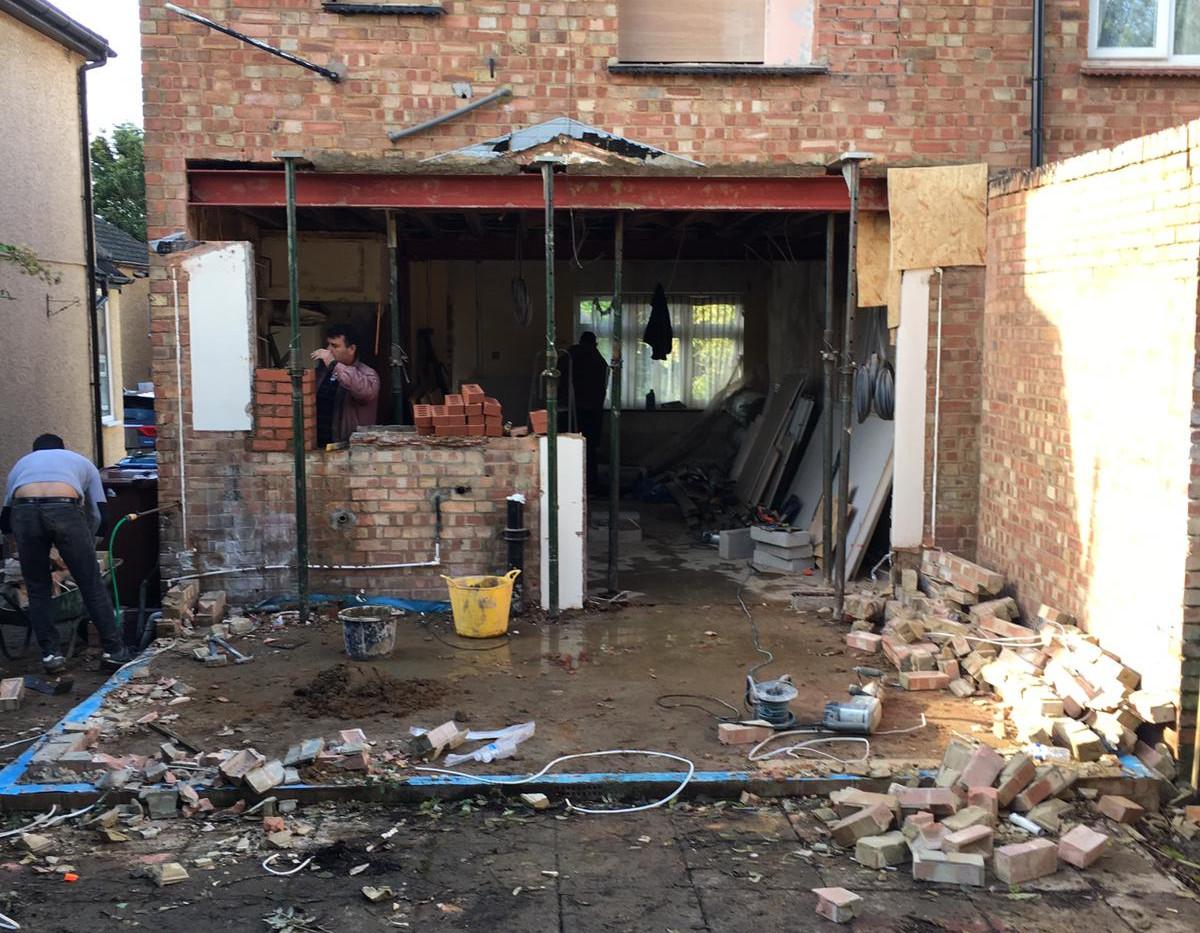Demolition of Conservatory