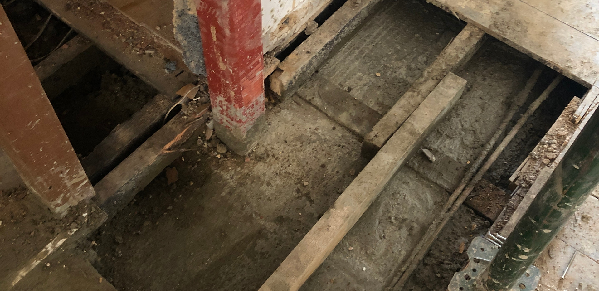 Installation of Pad Foundation and Steel Column