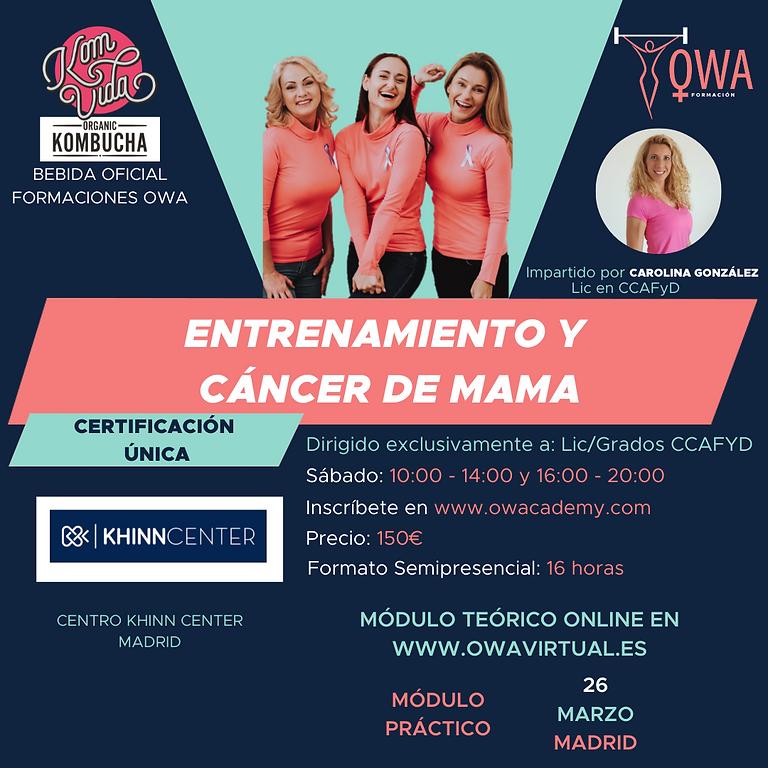 Certificación Única Entrenamiento y Cáncer de Mama Madrid