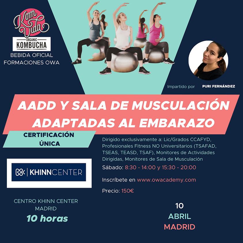 Certificación Única AADD y Sala de Musculación adaptadas al Embarazo Madrid