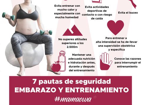7️⃣ Pautas de seguridad en tu entrenamiento durante el embarazo