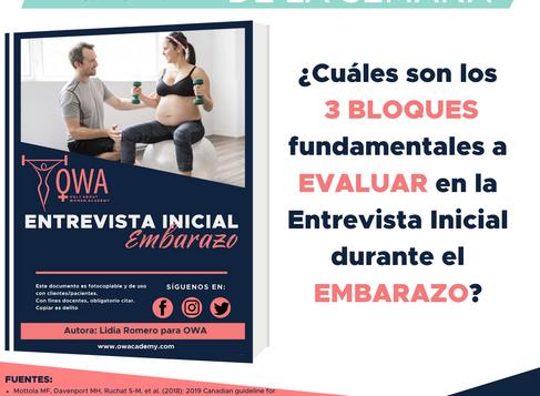 ENTREVISTA INICIAL ANTES DE ENTRENAR DURANTE EL EMBARAZO