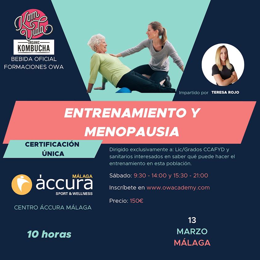 Certificación Única Entrenamiento y Menopausia Málaga