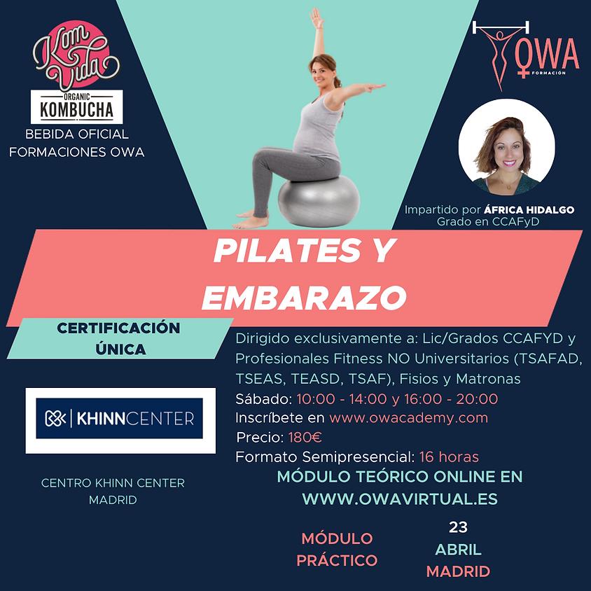 Certificación Única Pilates y Embarazo Madrid