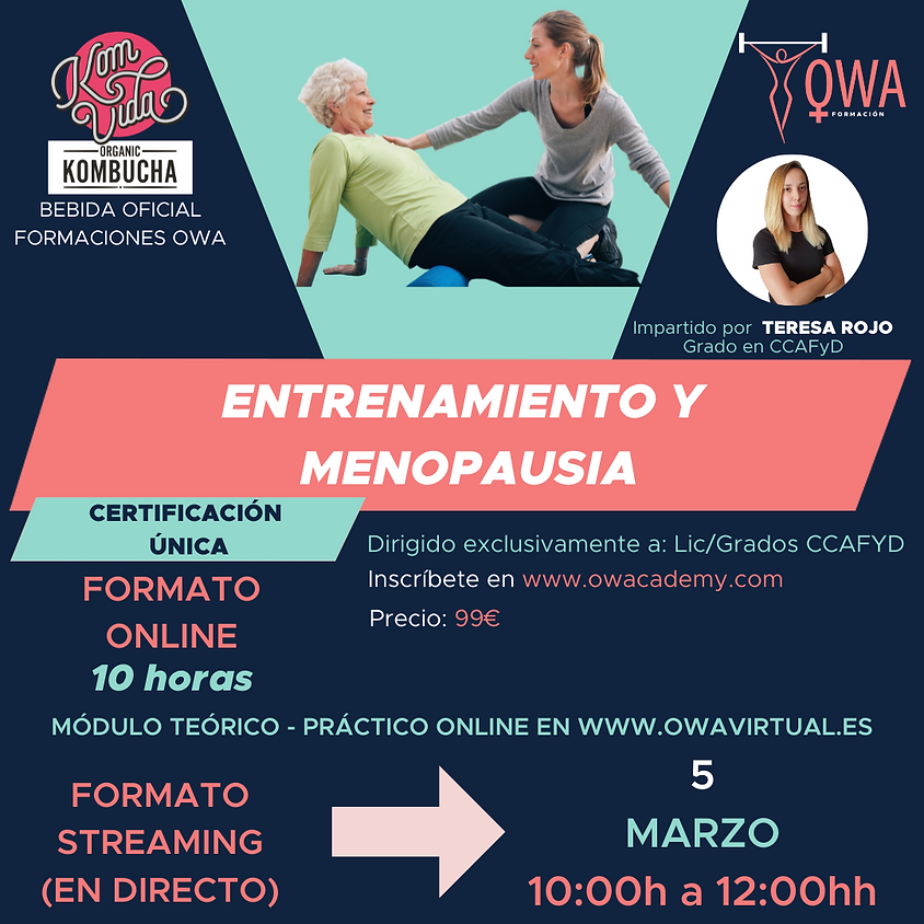 Certificación Única Entrenamiento y Menopausia