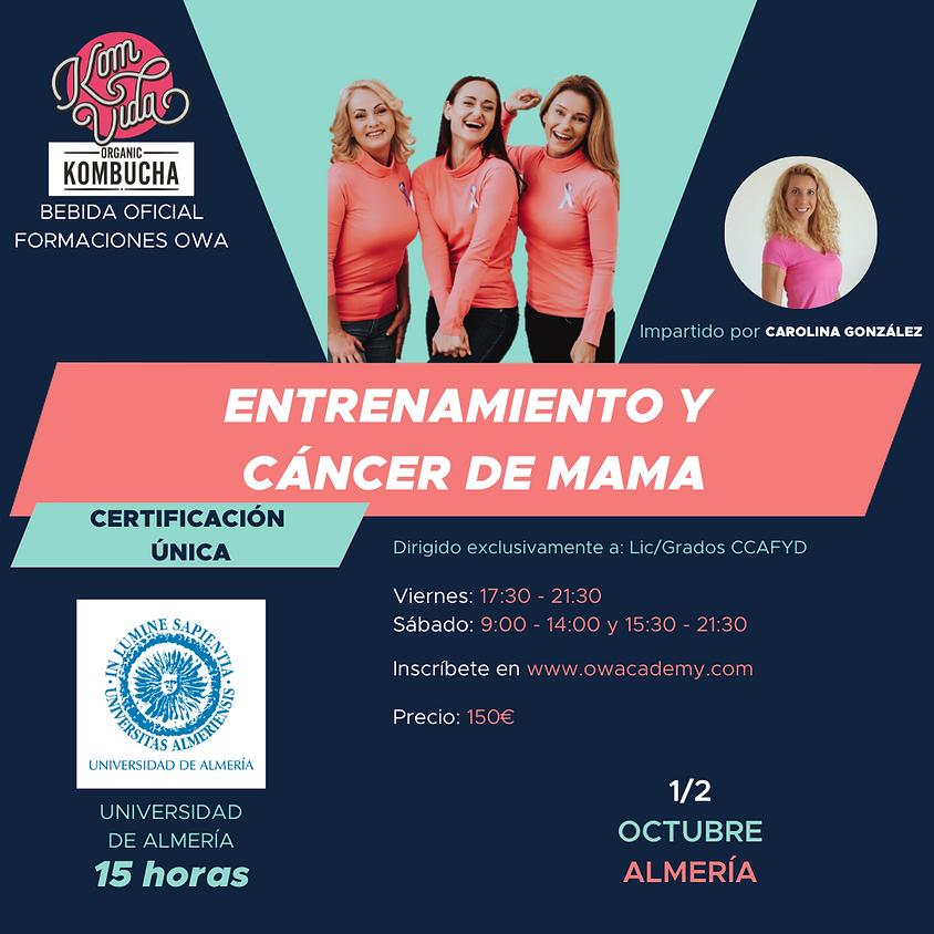 Certificación Única Entrenamiento y Cáncer de Mama Almería
