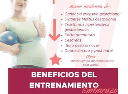 BENEFICIOS DEL ENTRENAMIENTO DURANTE EL EMBARAZO