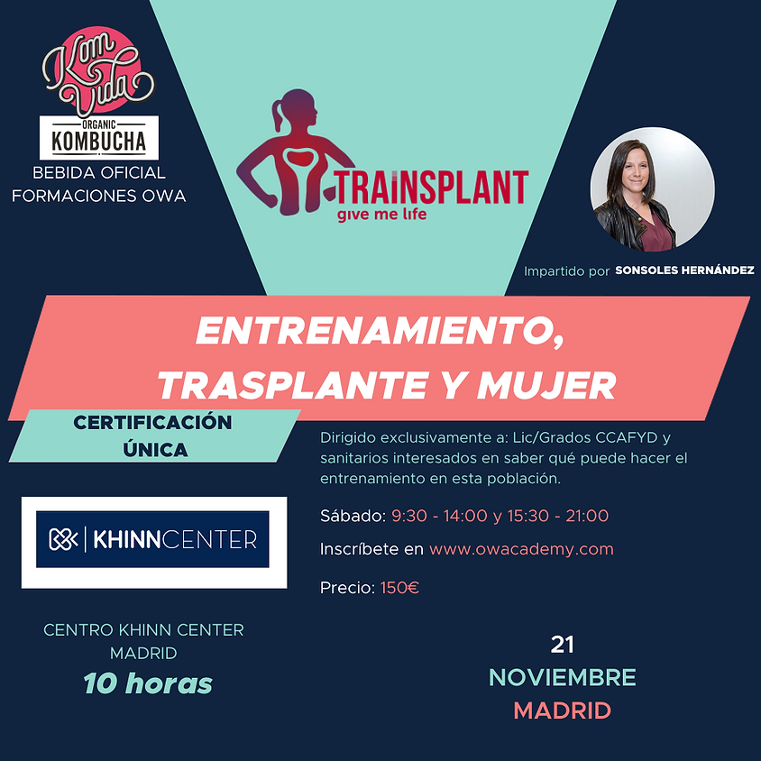 Certificación Única Entrenamiento, Trasplante y Mujer Madrid