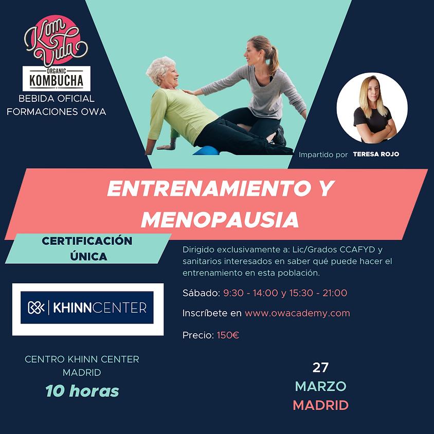Certificación Única Entrenamiento y Menopausia Madrid