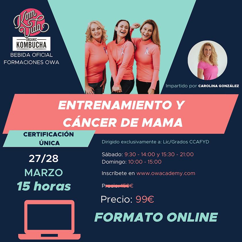 Certificación Única Entrenamiento y Cáncer de Mama ONLINE