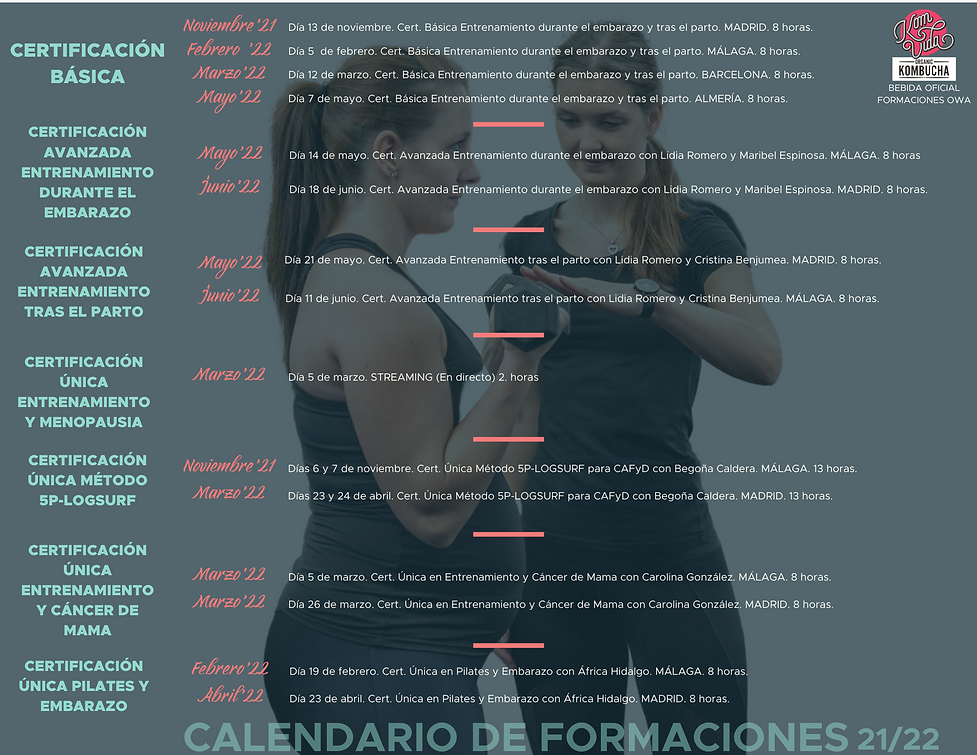 Calendario académico 2021 - 2022