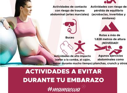 ACTIVIDADES Y EJERCICIOS A EVITAR DURANTE EL EMBARAZO