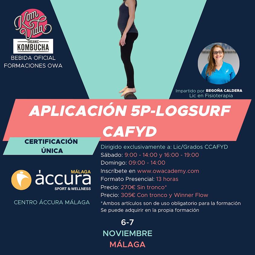Certificación Única Aplicación 5P-LOGSURF para CAFYD Málaga