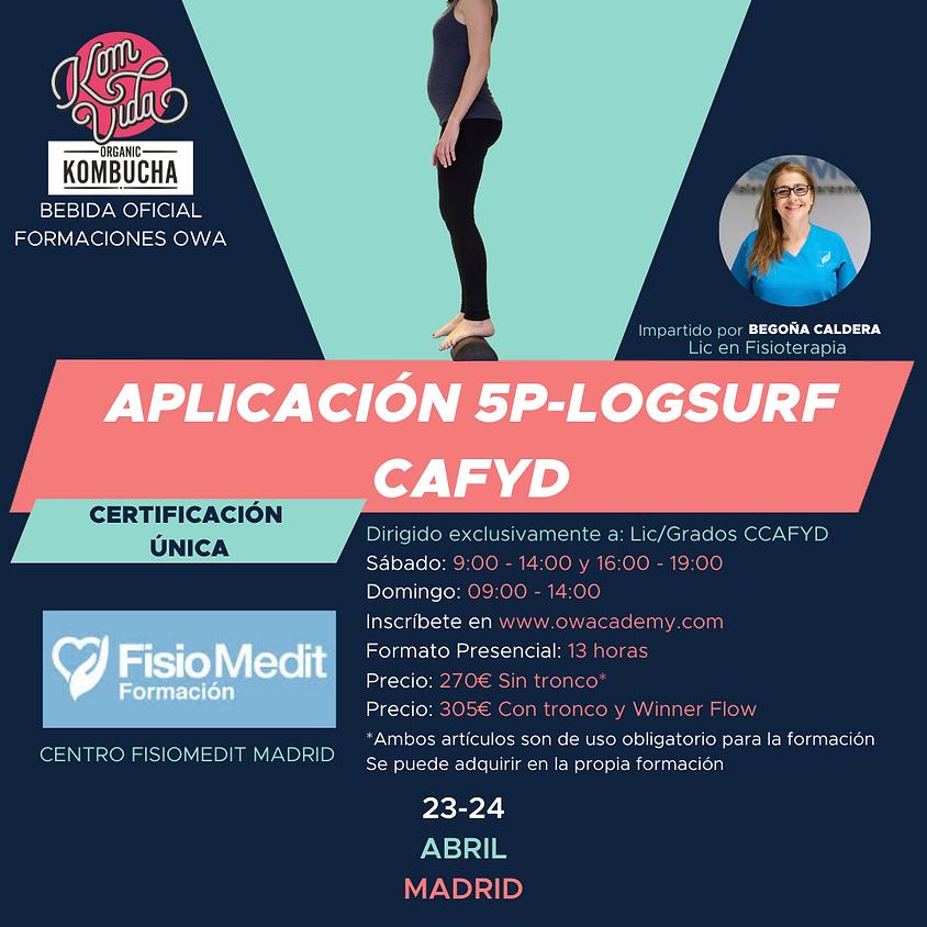 Certificación Única Aplicación 5P-LOGSURF para CAFYD Madrid