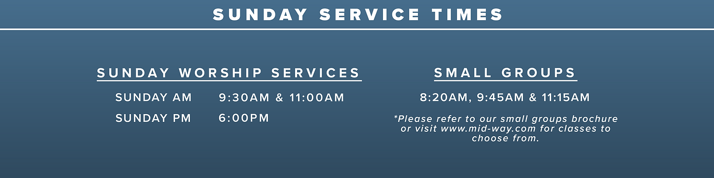 Sunday Service Times without April 11th