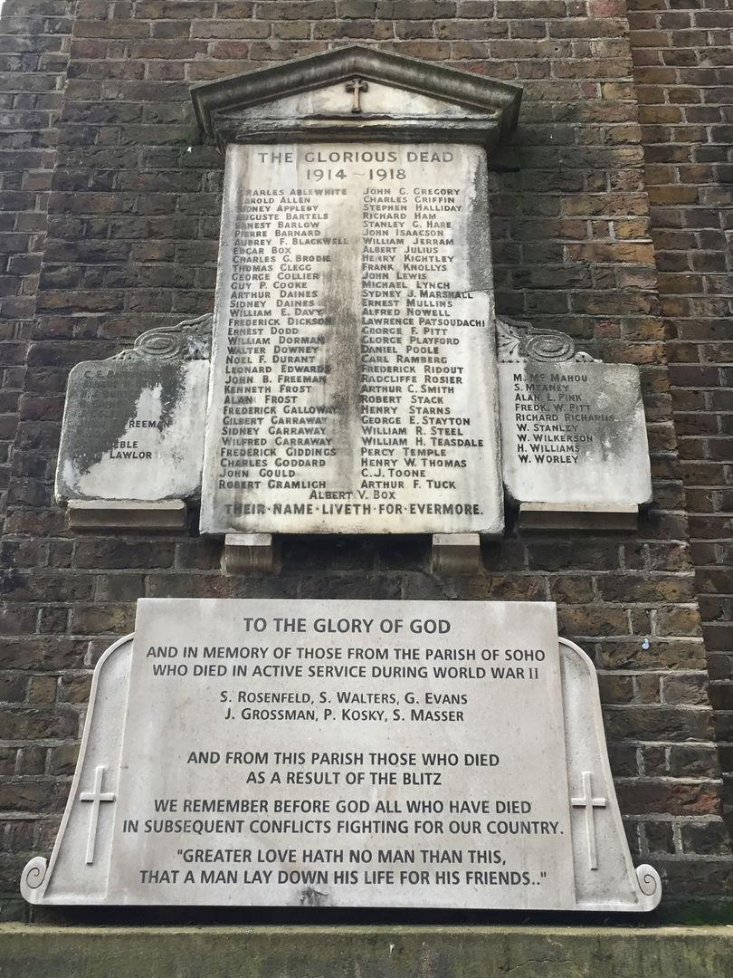 War Memorials on the Tower