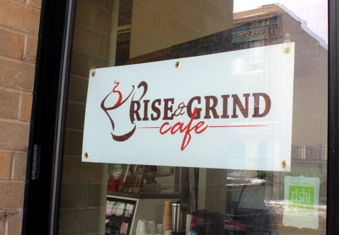 Rise and grind sign