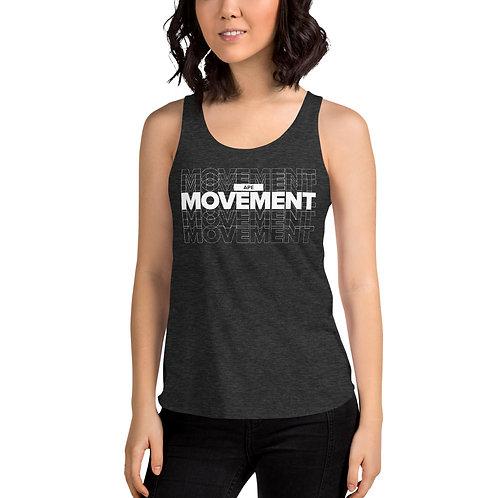 Ape MOVEMENT - Women's Tri-Blend Racerback Tank