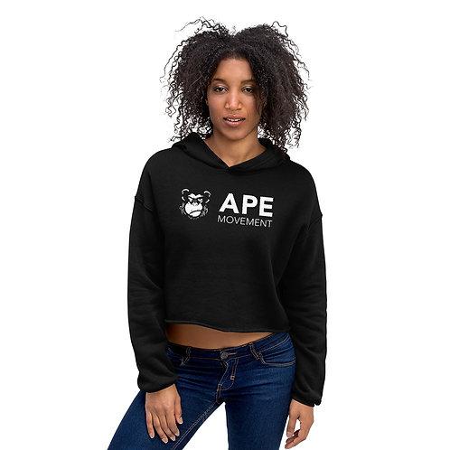 Ladies' Ape Movement Crop Top Hoodie