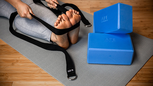 yoga blocks and strap set