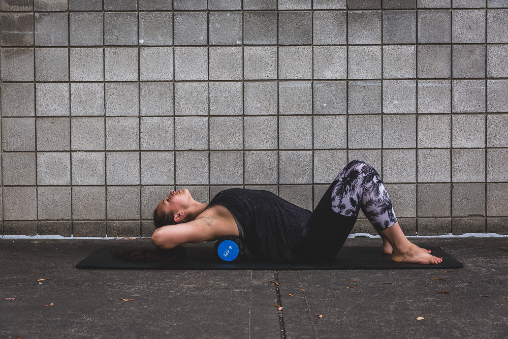 spine mobilization with a foam roller