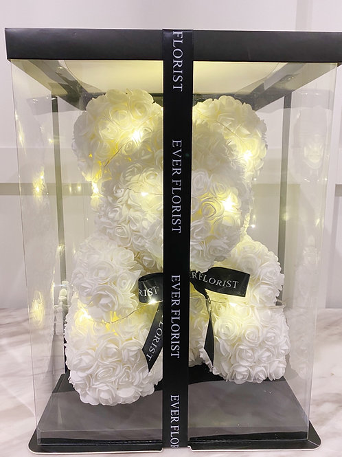45cm White Bear(with light)