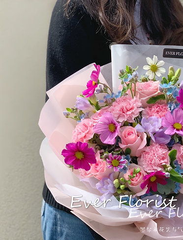 康乃馨混合花束