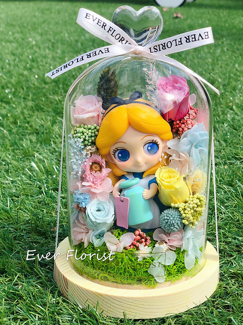 Q Posket Baby Alice w preserved flowers