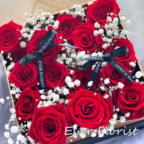 Premium Roses Box (with light)