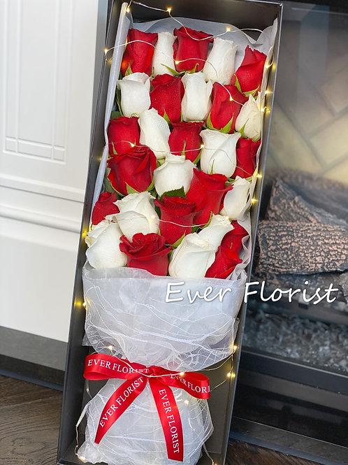 Premium Roses Box(with light)