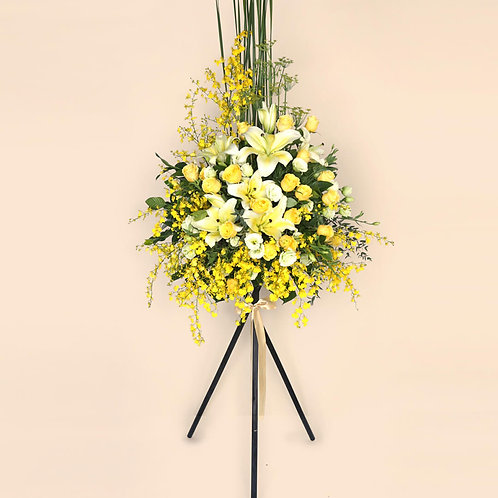 Opening Flower Stand Yellow