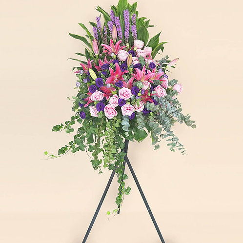 Opening Flower Stand Purple