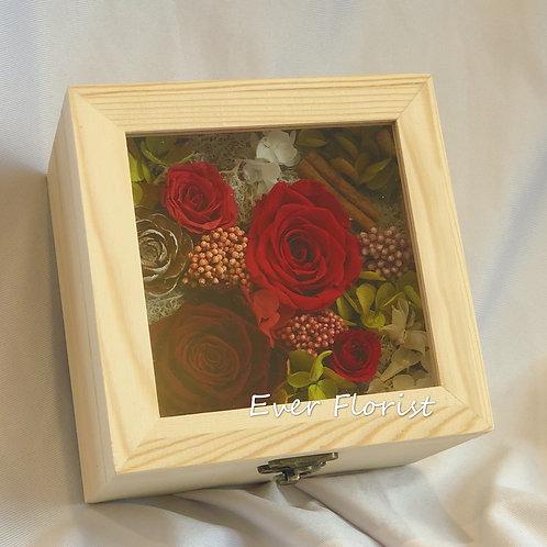 Premium Preserved Rose Box(Red)