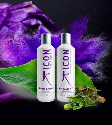 shampoing et après shampoing déjaunissant Icon Pure Light 2x 250ml
