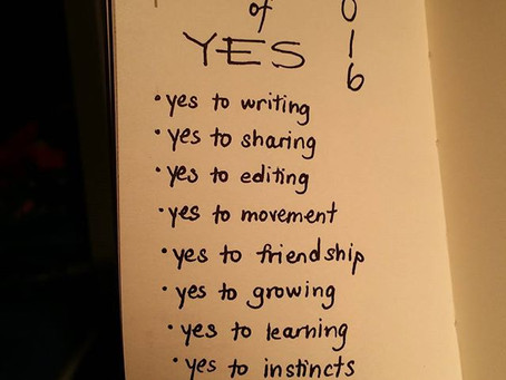 A Single New Year's Resolution: Year of Yes!