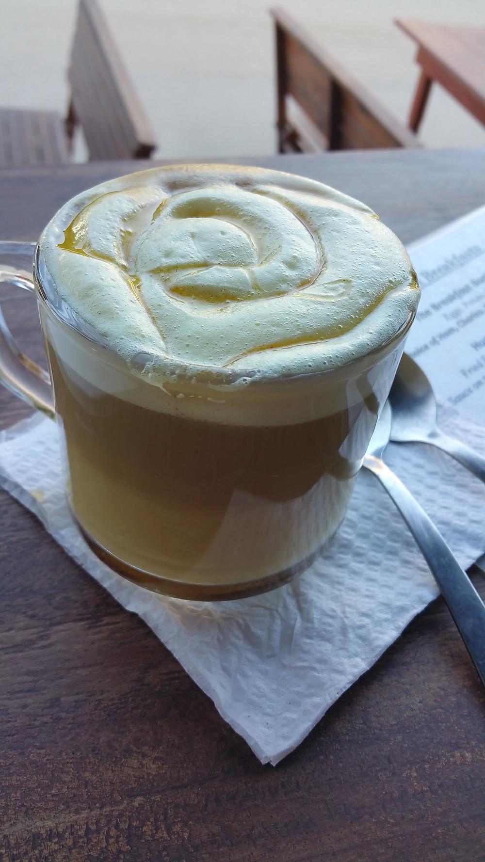 golden latte, Sayulita, Mexico