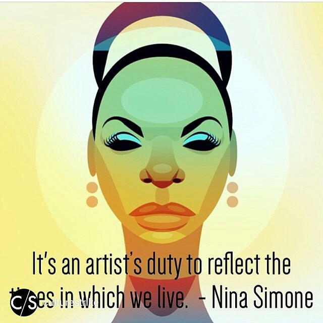 Instagram - Via @culturestrike & @aliciakeys.jpg Art & #truth by @stan_chow and