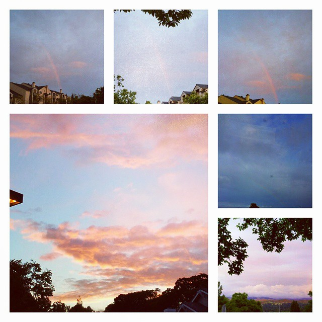 Instagram - A study in #rainbows and #clouds. Might be a rare sight this dry yea